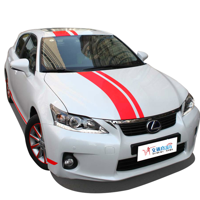 Fashion Brief Line Style Car Styling Personality Decor Stickers For Lexus Ct200h Wheel Sticker