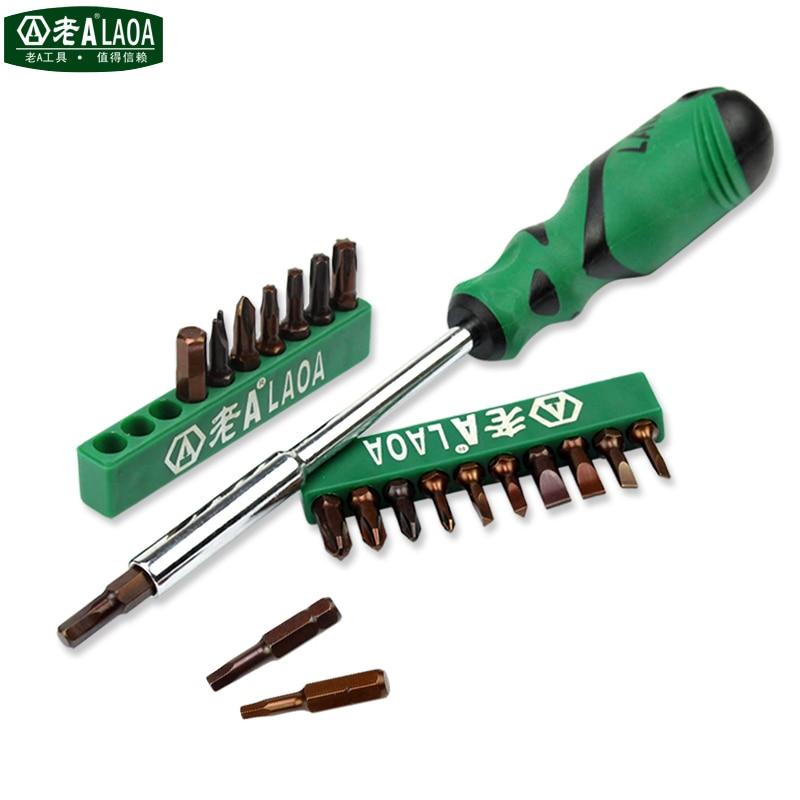 LAOA 20 in 1 Screwdriver Sets Multi-function Magnetic Screwdriver Tools Hardness HRC60 Professional Screwdriver Bits Repair Kit