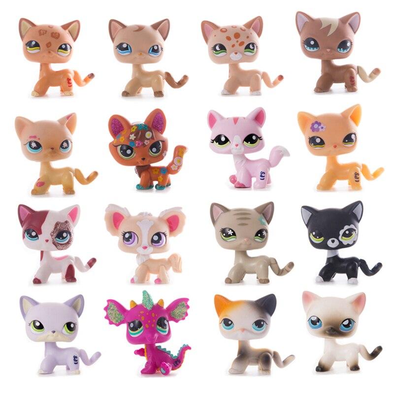 LPS Pet Shop Nette Kurze Haar Katze Spielzeug Great Dane Collie Hunde PVC Action Stand Figur Spielzeug Cosplay Puppen Modell spielzeug Geschenke Für Kinder