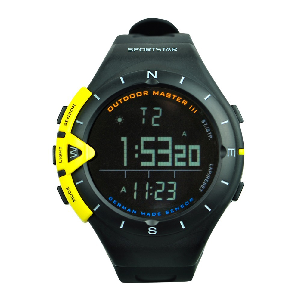SPORTSTAR Outdoor Master 3 military style sport hiking intelligent watch altimeter therometer barometer weather forecast