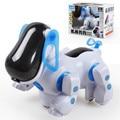 Горячая Электронный Робот Собака Интеллектуальный Робот Прогулки Собака Щенок Интерактивная Игрушка Девочек Мальчиков Brinquedos с Музыкой Свет Детские Игрушки