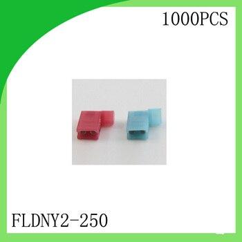 Brass 1000 PCS FLDNY2-250 Full Insulated Female Flag Crimp Terminal cold-pressure ternminal