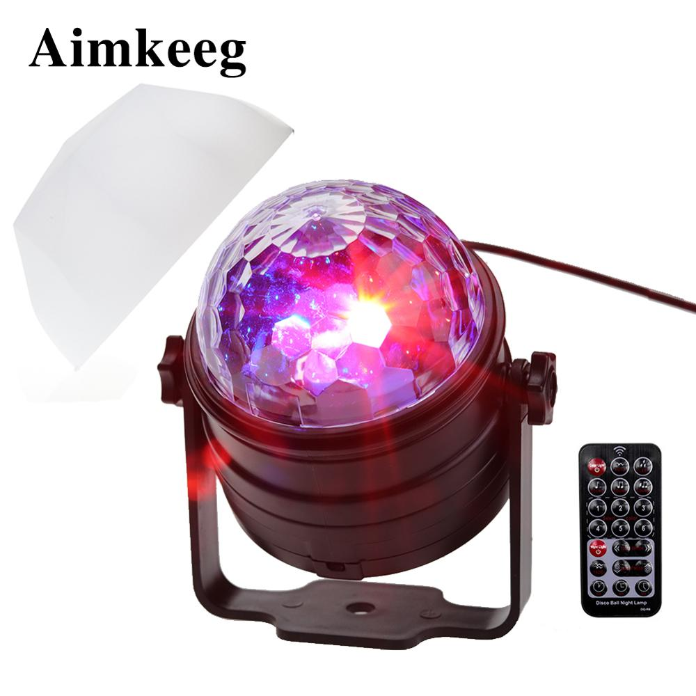 Mini Led Disco Party Light Sound Actived Rotating Ball Lights Laser Projector Effect Led Stage Lights Night Lamp For Christmas