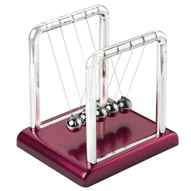 New Design Newtons Cradle Fun Steel Balance Balls Physics Science Pendulum Desk Table DIY Decoration Accessory