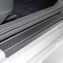 цена на 4PCS Waterproof Carbon Fiber Anti Scratch Car Stickers Auto Door Sticker Decals Car Accessories