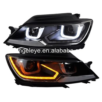 For Volkswagen for lamando LED Head Lights Head lamp Front light 2014-2015 year for original car with Halogen Version LD