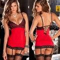 Женщины горячие продажа сексуальное женское белье горячей танца на пилоне красное платье langerie сексуальное нижнее белье эротическое белье lenceria сексуальные костюмы + чулки