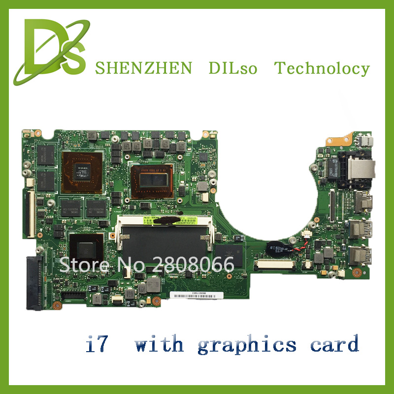 For UX51VZ Laptop motherboard for ASUS onboard i7 cpu UX51VZ mainboard REV2.0 with Graphics card new n56jr laptop motherboard for asus with i7 cpu with high quality