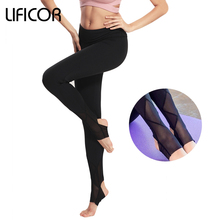 Womens Yoga Pants Fitness Sports Leggings Capri Workout Running For Female Mesh Gym Tight Trousers Sweatpants Sports Clothes