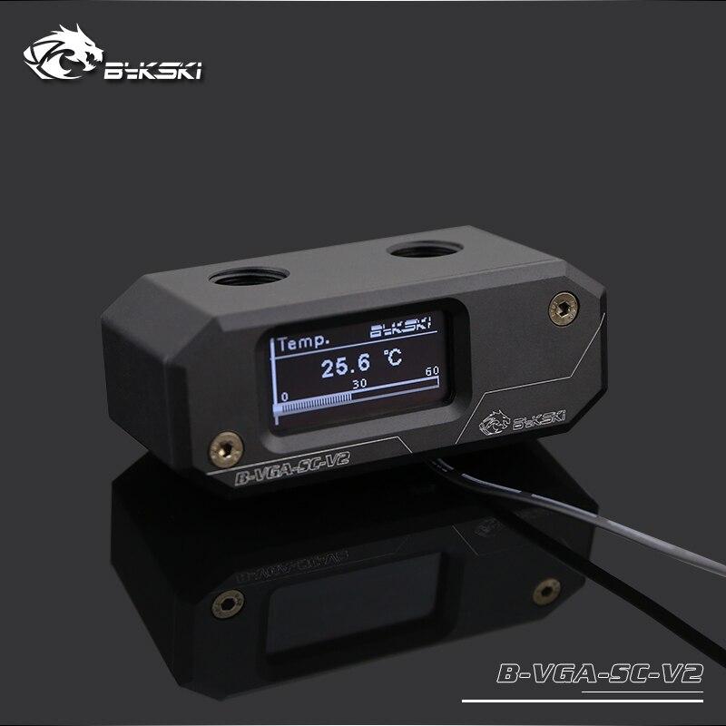Bykski Black temperature digital displayer screen real time instant montoring pc water cooling gadget OLED B