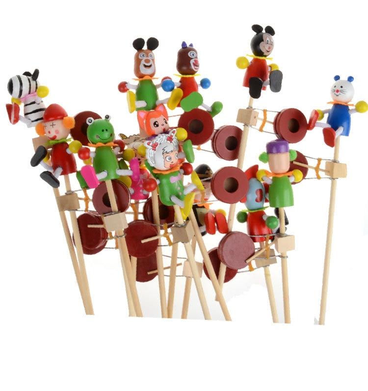 3pcs / lot baby trä tecknad rattles trummel leksaker / barn barn - Leksaker för spädbarn