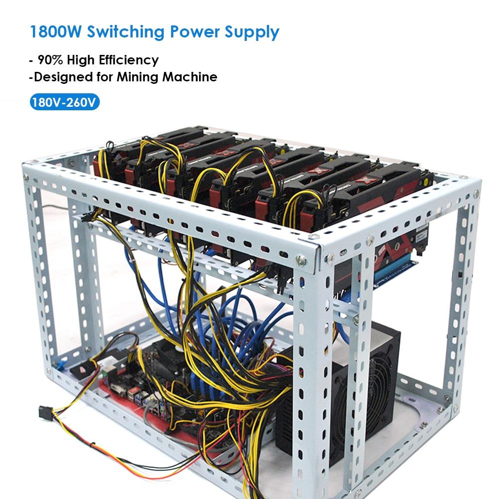 1800W 90/% High Efficiency PSU Switching Power Supply For Mining Machine US Stock