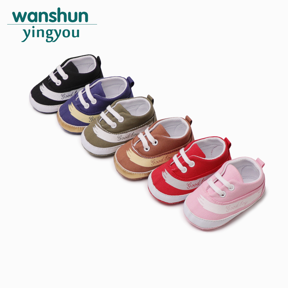 Baby boy girls first shoes crib infant canvas sneakers toddler cool shoes Adorable Anti-slip Prewalker moccasins Newborn fashion