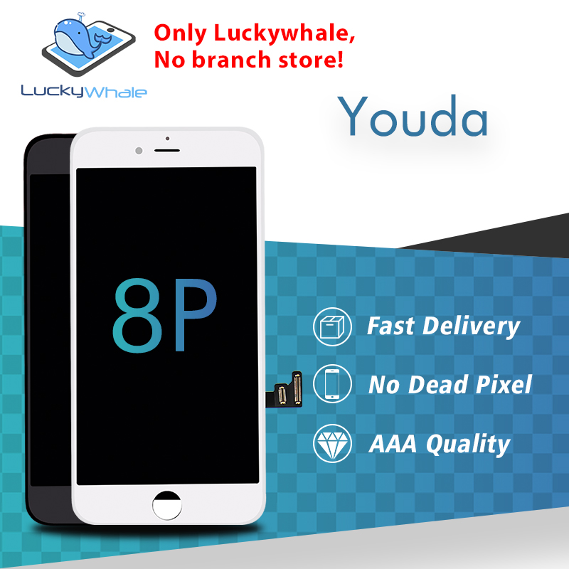 Top Youda Auo Quality LCD For iPhone 8 Plus LCD Display 3D Touch Screen Digitizer Assembly