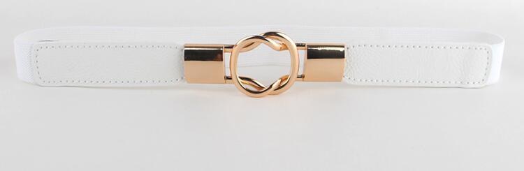 Free Shipping Fashion women's belt elastic waistband gold circle buckle small belts red thin cummerbund woman belt strap brown 12