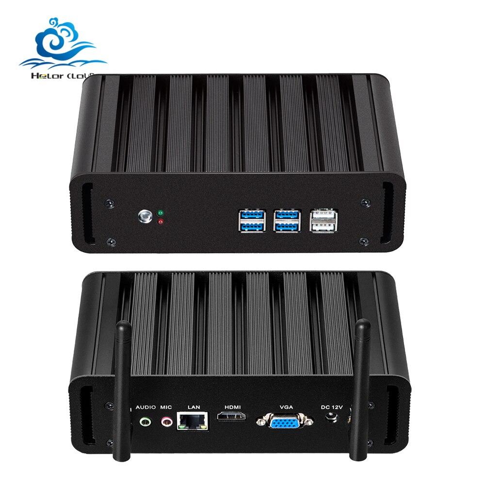 HLY i7 Mini PC Core i7 7500U i7 6500U Mini Computer 4K HD Windows 10 Celeron 2955U Computer PC Desktop HDMI USB Wifi цена