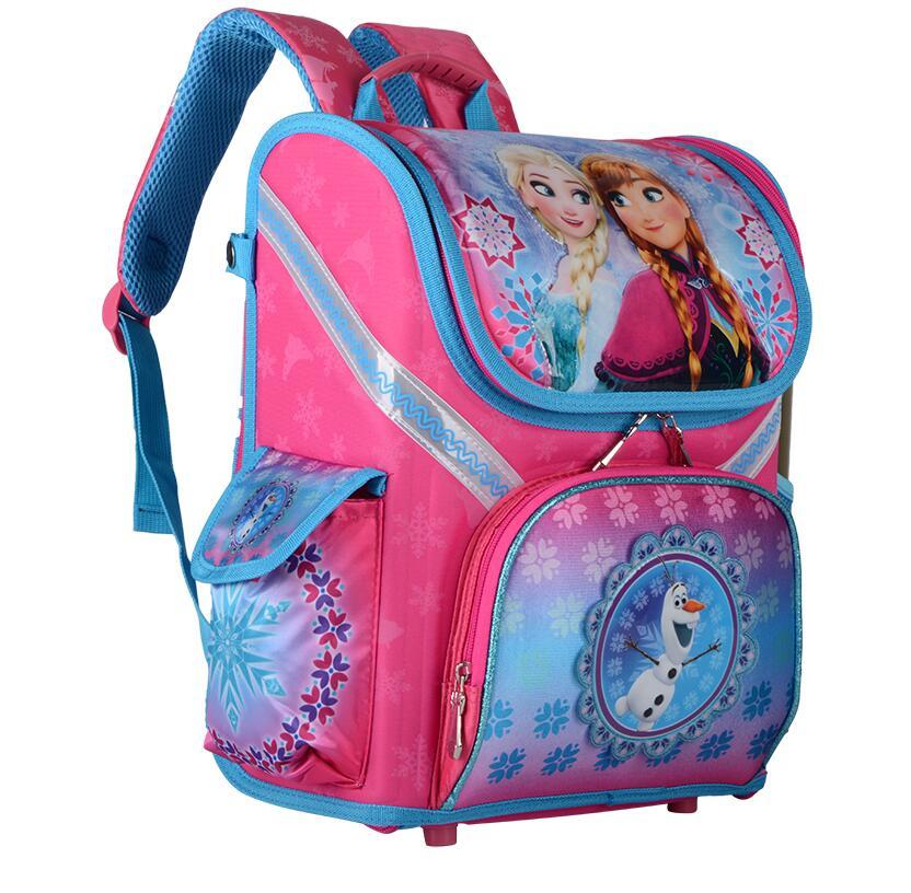Image 2 - New Girls Cartoon Snow Queen Backpack School Bag Orthopedic Children Schoolbag Anna Elsa Backpack Mochila Infantil-in School Bags from Luggage & Bags
