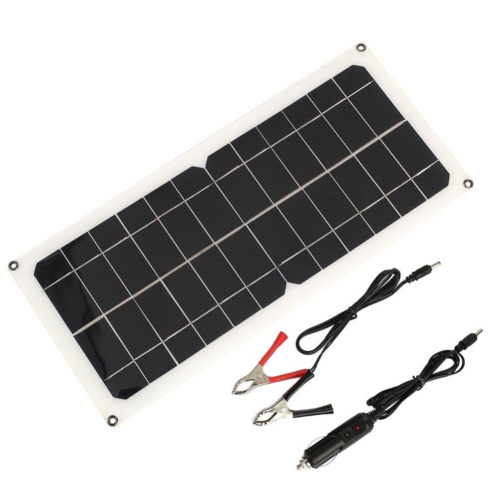 Cewaal солнечной зарядки Солнечные генераторы 12 В 10 Вт USB + DC Порты и разъёмы + Автомобильное Зарядное устройство светодиодный свет аварийного П...