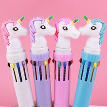 30pcs Unicorn Gel Pens Kawaii Stationery Cute Pens New Writing Pen Student Novelty Gel Pen Kawaii School Supplies Stationary jinghao kaco info series kawaii transparent gel pen with 16g usb disk multifunction gel pens for student school supplies