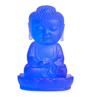 K9 Crystal the Figure of Buddha Figurine Miniature Statue Crystal Craft Home Decor Religion Ornament