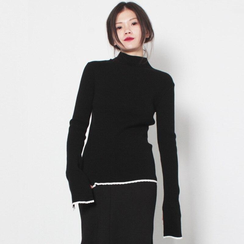 Fall 2017 Fashion Winter Sweater Women Turtleneck Sweater Cotton ...