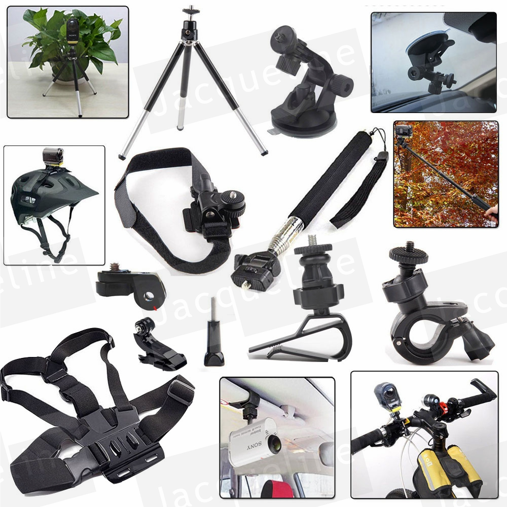 Kit Accessories Mount Set for Sony Action Cam HDR AS15 AS300 AS50 AS20 AS200V AS30V AS100V AZ1 mini FDR-X1000V/W 4 k dz chm1 clip head mount kit for sony action camera fdr x1000v hdrr as200v hdr az1vr hdr as100v