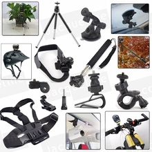 Kit Accessories Mount Set for Sony Action Cam HDR AS15 AS300 AS50 AS20 AS200V AS30V AS100V AZ1 mini FDR-X1000V/W 4 k