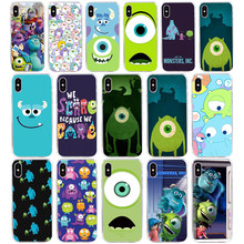 20AQ Monster Inc Film Lembut Silicone TPU Cover Case untuk iPhone 5 5S SE X XR X Max Case(China)