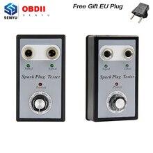 Dual Hole Car Spark Plug Tester Detector for 12V Gasoline Ignition Plug Analyzer Diagnostic Tool With High Quality with EU Plug