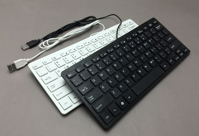 0f74b062081 78 Keys Mini Ultra Thin Portable USB Wired Keyboard for Apple android For  PC Computer Laptop iMac Macbook Windows XP/7/8