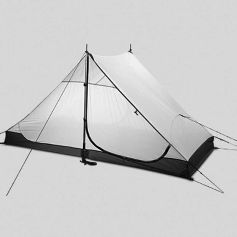 3F ul dişli 2 kişilik 3 mevsim ve 4 mevsim iç LANSHAN 2 dışarı kapı kamp çadırı yüksek kalite ultralight çadır iç Örgü
