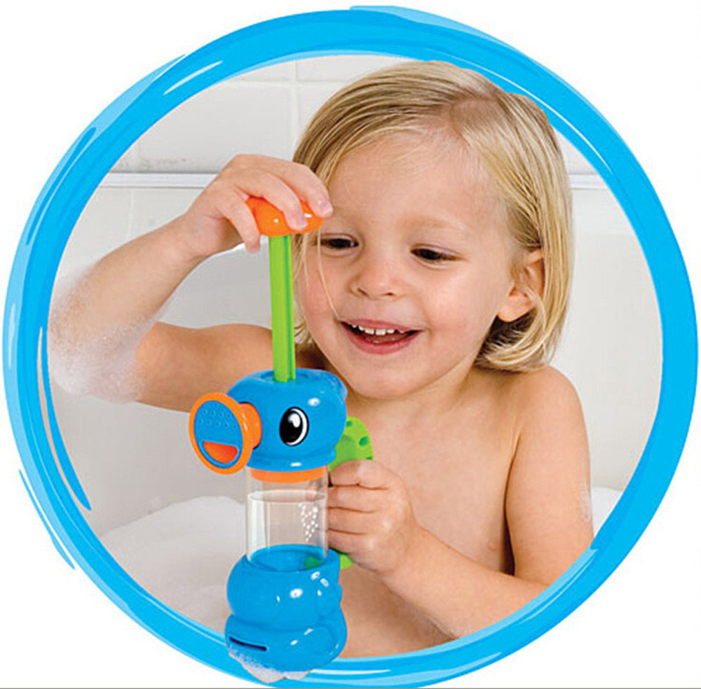 MUQGEW Child Baby Kids Bath Shower Swimming Pool Water Toys Duck Design Water Pump Toy Bath Toys for Children