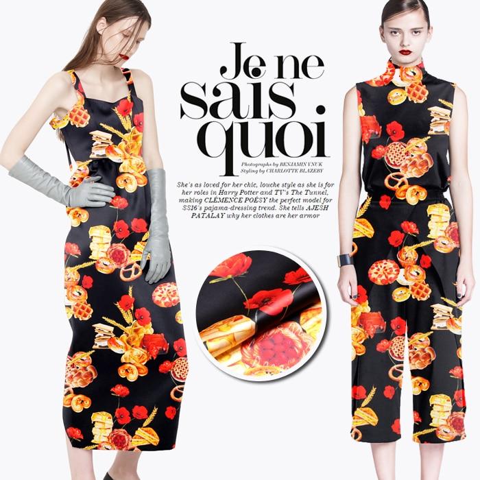 118cm široký 19mm 93% hedvábí a 7% spandex cookie a pšeničný strečový hedvábný saténový textil pro šaty košile oblečení cheongsam D723