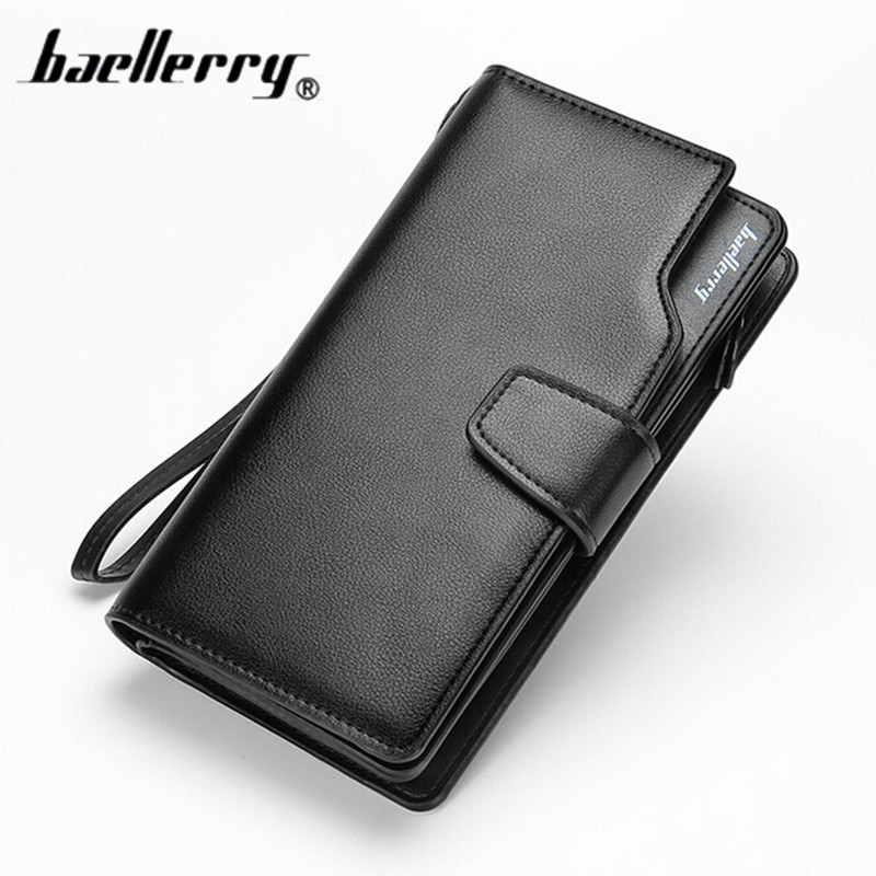 d0a6c807f Top Quality Leather Long Wallet Men Pruse Male Clutch Mltifunction Zipper  Around Wallets Men Money Bag 3 Fold Phone Package