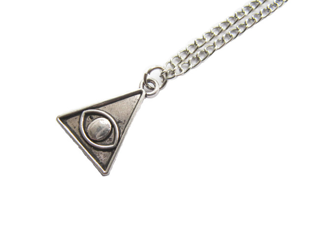 2pcs wholesale third eye necklace triangle pendant evil eye 2pcs wholesale third eye necklace triangle pendant evil eye ancient silver mozeypictures Image collections