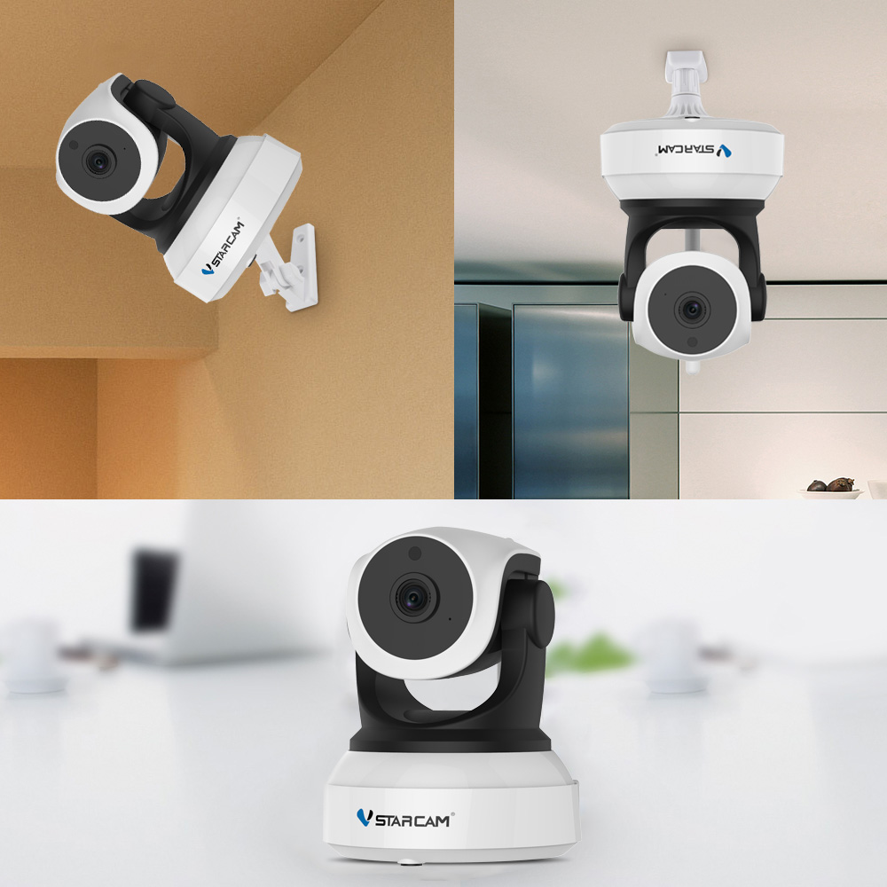 Wi-fi Video Surveillance Night Security Camera Network Indoor Baby Monitor C7824WIP 4