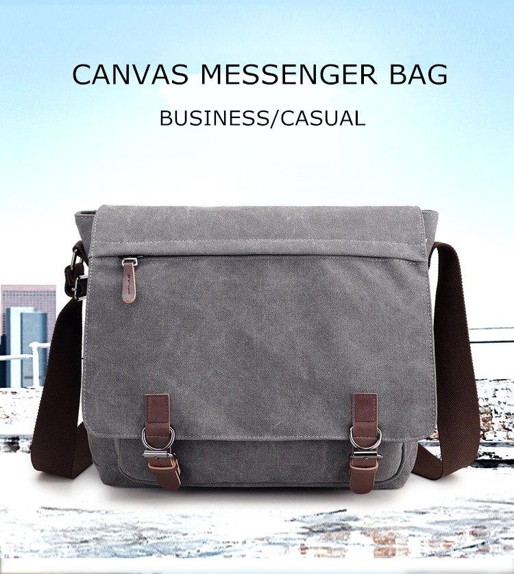 Micom Canvas Men Messenger Bags Vintage Shoulder Belt Bag Large Capacity Business Travel Bag Men\`s Canvas Crossbody Handbag New (1)