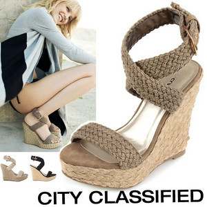 0060f213286 New 2015 Summer Shoes Pastoralism Style Bohemia Braided Wedge Espadrilles  Women s Wedges Sandals Black Apricot Brown Size 35 39-in Women s Sandals  from ...