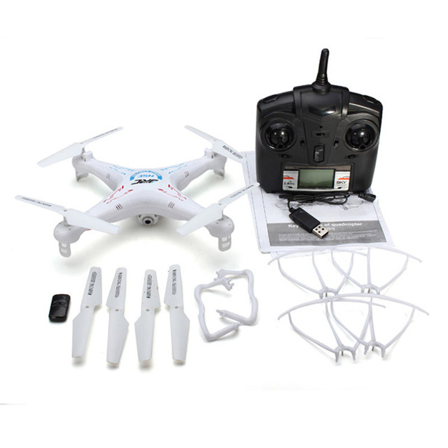 Moda JJRC H5C 2.4G 4CH 6-axis Una Tecla de Retorno Transmisor FPV Helicóptero Drone RC Quadcopter Con Cámara de 2MP Caliente venta