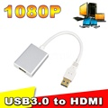 2015 New 1080P USB 3.0 to HDMI Converter Adapter Cable Male to Female Multi Display Graphic Adater for Desktop Laptop HDTV