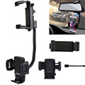 HAWEEL Car Rear View Mirror Stand Mobile Phone Mount Holder for iPhone/Samsung and Other Phones Clamp Size: 40mm-80mm