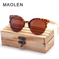 5f66b0ce9 MAOLEN 2018 New Retro Wood Men Bamboo Sunglasses Women Brand Design Goggles  Unisex Sun Glasses With. MAOLEN 2018 Nova Retro Dos Homens de Madeira ...