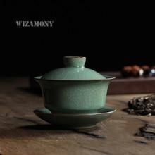 WIZAMONY tea set teapot gaiwan longquan celadon crackle glaze high quality
