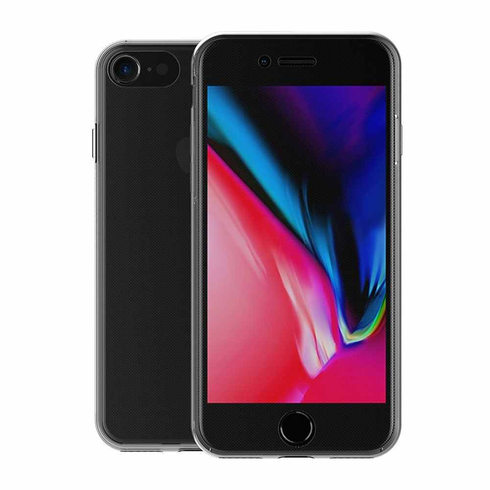 Iphone 8 7 6 6s プラス 5 5s 、 se X ケース 360 度フルカバーソフト高級透明シリコンケースカバー iphone 6 6s 7 8