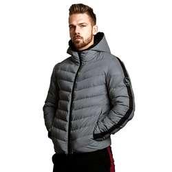 2018 Новая зимняя мужская куртка брендовая Повседневная Новая однотонная Простая мужская куртка и пальто толстая парка с капюшоном куртки