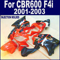 Custom Road fairings kit for Honda CBR 600 F4i fairing kits 2001 2002 2003 CBR 600 F4i 01 02 03 red black aftermarket body parts