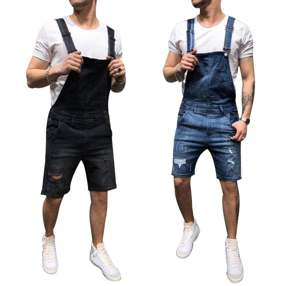 2color Overalls Modis Denim Fashion Jeans Men Blue Spring Hole Men's Jeans Clothes Pants Jeans For Men Pants Size S-Xxxl D20