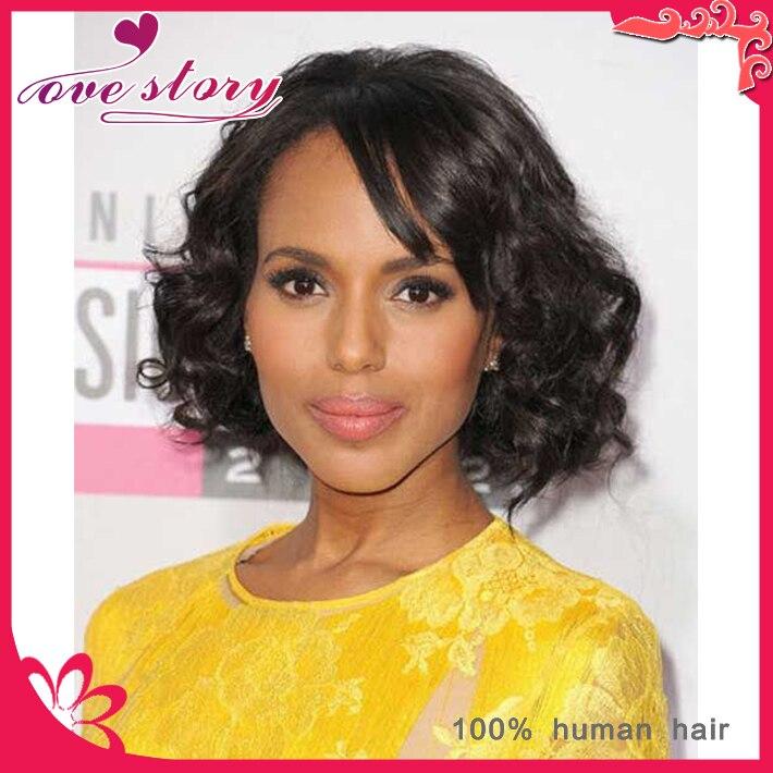 Short Curly Bob Wigs Black Women Unprocessed Brazilian Human Hair