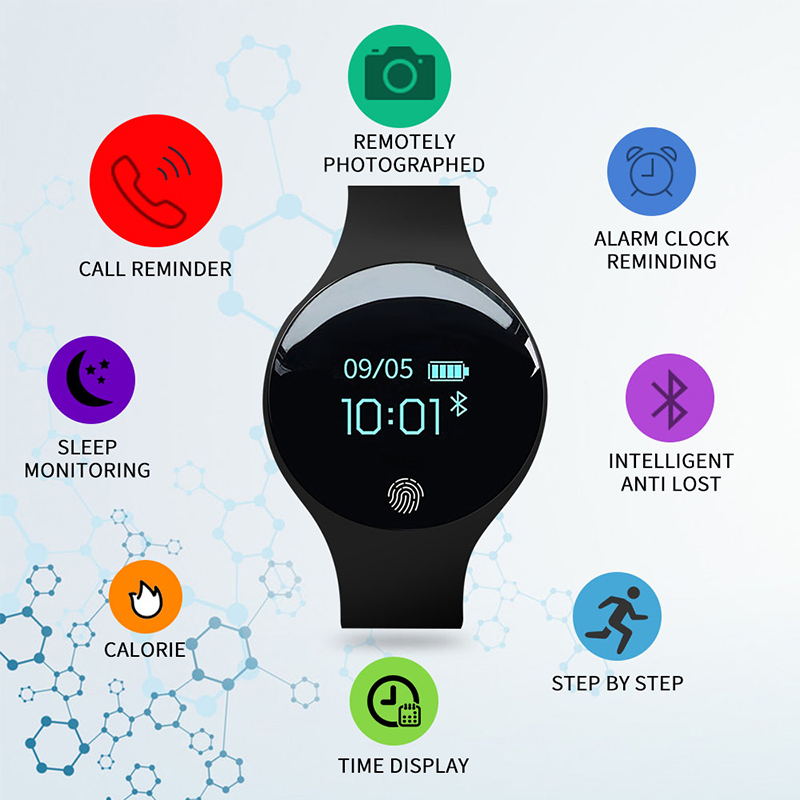 SANDA SD01 Fashion Smart Digital Wristwatch Men/Women/Children Touch Screen Distance Sleep Monitor Smartwatch For IOS Android 1