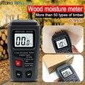 EMT01 Zwei Pins Digital Holz Feuchtigkeit Meter 0 99.9% Holz Feuchtigkeit Tester Holz Damp Detector mit Große LCD Display-in Feuchtemessgeräte aus Werkzeug bei